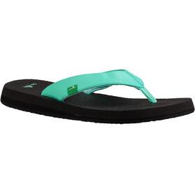 Sanük Yoga Mat Naiset sandaalit , musta/turkoosi